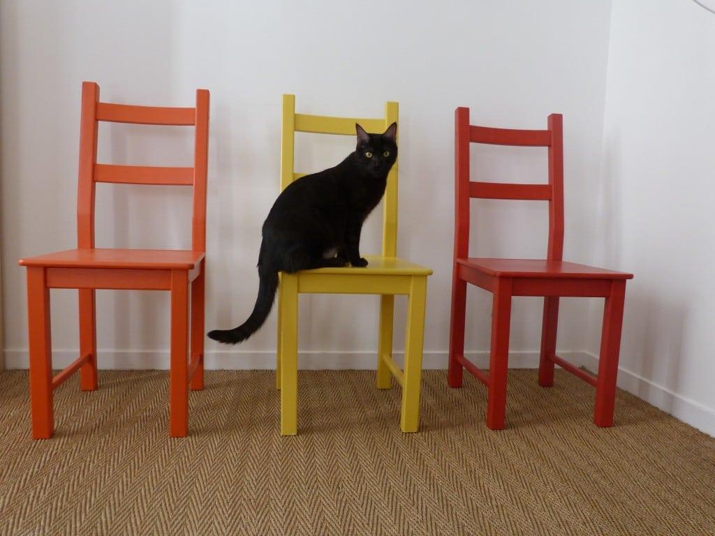 Résultat DIY chaises