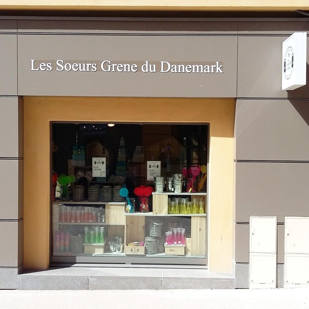 Devanture de la boutique à Versailles