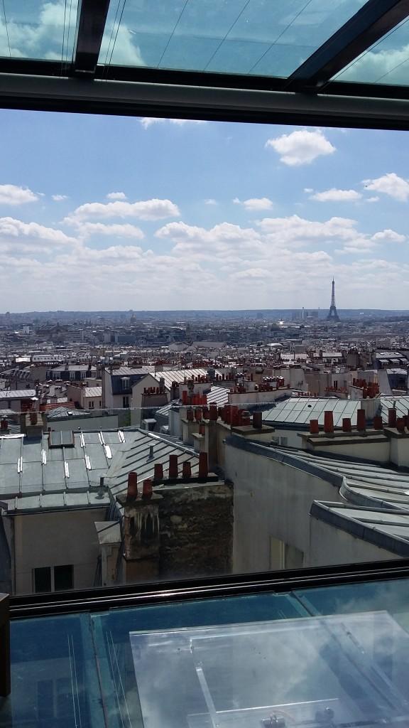 Vue sur la Tour Eiffel depuis le salon