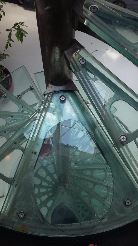 Escalier inspiré de la Tour de Pise